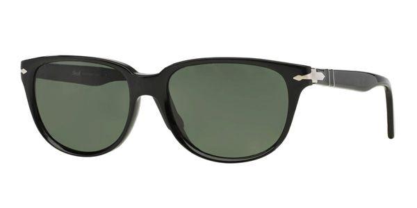 Persol per uomo po3104s (CLASSIC)  - 901431 (BLACK\/green), Occhiali da Sole Calibro 57