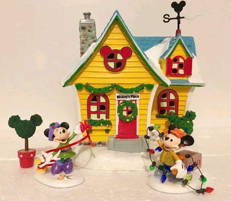 Dept 56 Disney Mickey Village Mickey's House 4 Piece Gift Set Minnie LAST ONE!