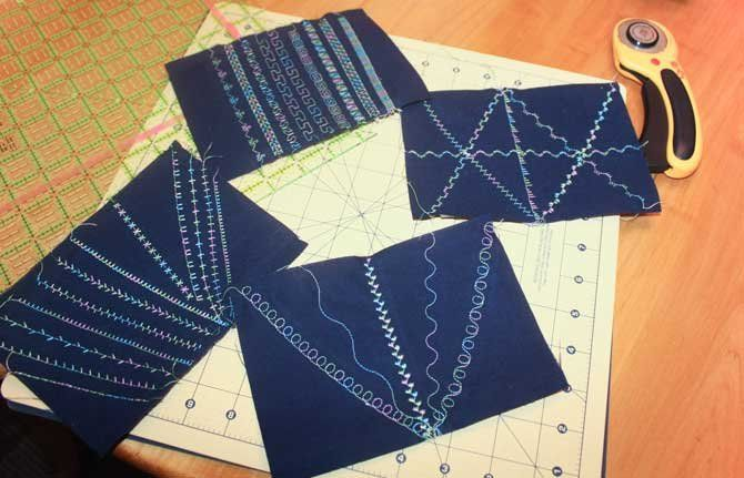 Postcards with Quilting and Other Decorative Stitches - QUILTsocial