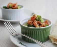 Poached egg pots with smoked salmon avocado salsa | Official Thermomix Recipe Community