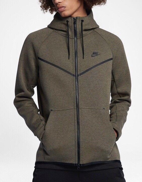 561735c0c527 Nike Tech Fleece Full-Zip Hoodie (Green) - Large - BNWT 805144-355  fashion   clothing  shoes  accessories  mensclothing  activewear (ebay link)