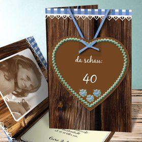 Einladungskarten 40. Geburtstag   Selbst Gestalten