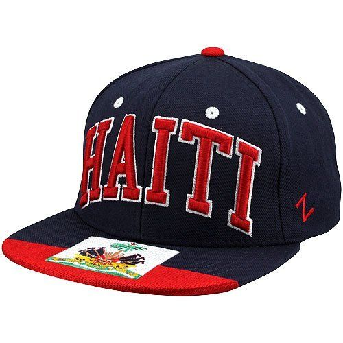 Olympics Zephyr Haiti Flag Snapback Hat - Navy Blue by Zephyr. $24.95. Structured fit. Imported. Quality embroidery. Flat bill. Adjustable plastic snap strap. Zephyr Haiti Flag Snapback Hat - Navy BlueFlat bill65% Acrylic/35% WoolAdjustable plastic snap strapImportedOfficially licensedQuality embroideryStructured fit65% Acrylic/35% WoolStructured fitFlat billAdjustable plastic snap strapQuality embroideryImportedOfficially licensed