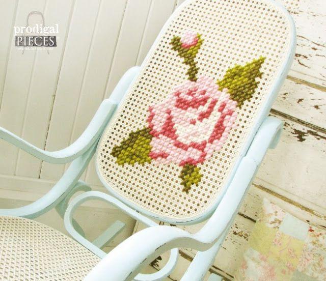 Cadeira de Balanço Thonet - Antes e Depois
