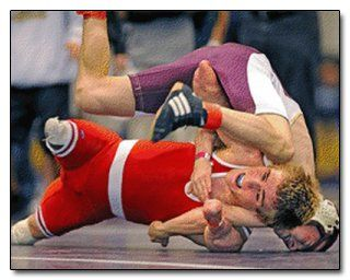 Dustin Carter, Wrestler at Division II Finals:  at 5 he got a rare blood disease that took away both feet and legs and half his arms. At 20 he is an accomplished wrestler against fully limbed athletes. This is courage!