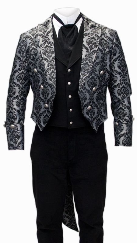 Silver Regency Brocade Tailcoat. Will you be my Mr. Darcy?