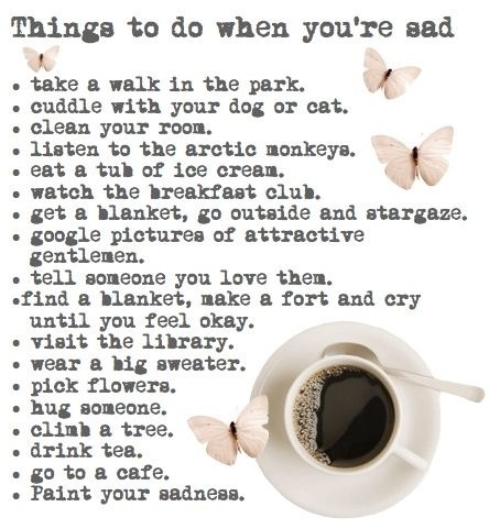 Things to do when youre sad