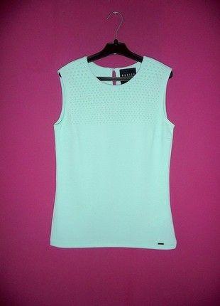 Kup mój przedmiot na #vintedpl http://www.vinted.pl/damska-odziez/bluzki-bez-rekawow/10890602-mohito-xs-nowa-bluzka-mietowa-mint-mietusek-pastelowa-pastelove-elegancka-piekna-koraliki