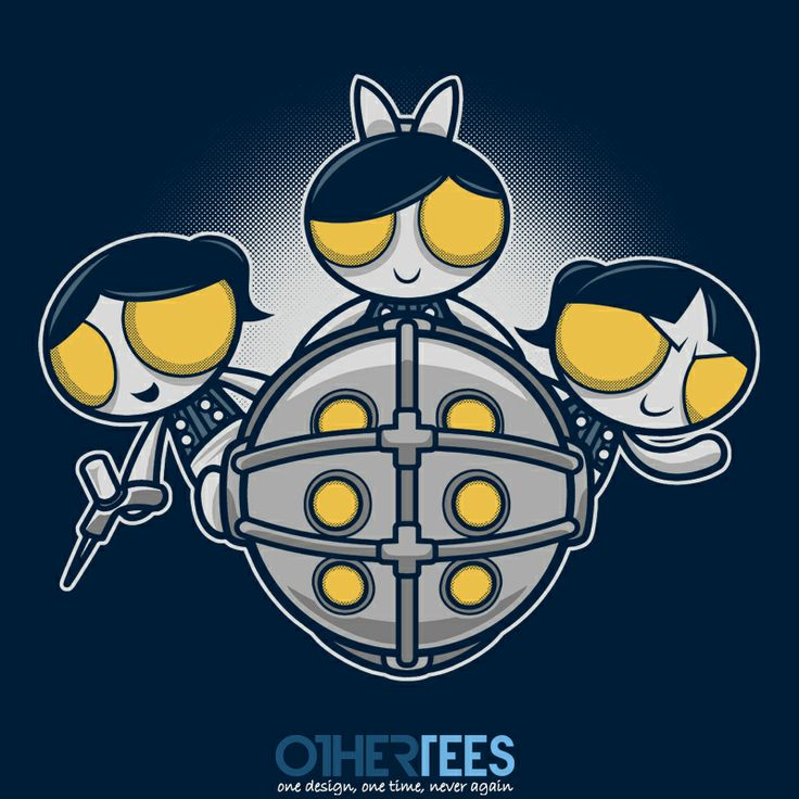 Sugar and Splice and Everything Nice by adho1982 Shirt on sale until 19 March on http://othertees.com #pikachu #bioshock