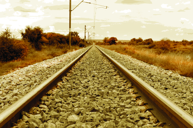 A Railway line on the way to Pilanesburg