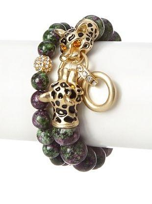 62% OFF Saachi Ruby Zoisite Leopard Bracelet Set