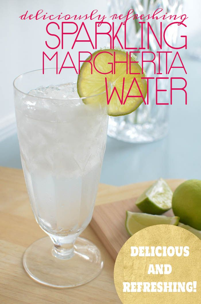 Deliciously Refreshing Sparkling Margherita Water for when you can't have the real thing!