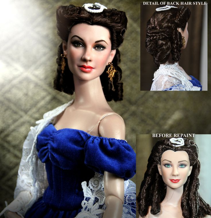 Vivien Leigh as Scarlett O'hara doll repaint by ~noeling on deviantART