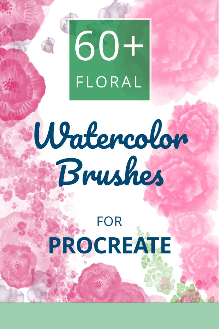 Floral Procreate Brushes Over 60 Watercolor Procreate Brushes And