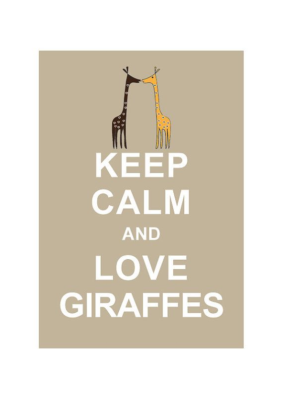 Keep Calm and Love Giraffes  LARGE 13X19 by simplygiftsonline, $15.8015 80, I M, Penguinsof Cours, Keep Calm And Love Giraffes, Giraffes Large, Large 13X19, Anniversary Gifts, Penguins Of Cours, Animal