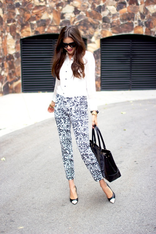 How to Style Printed Pants in Summer 2013