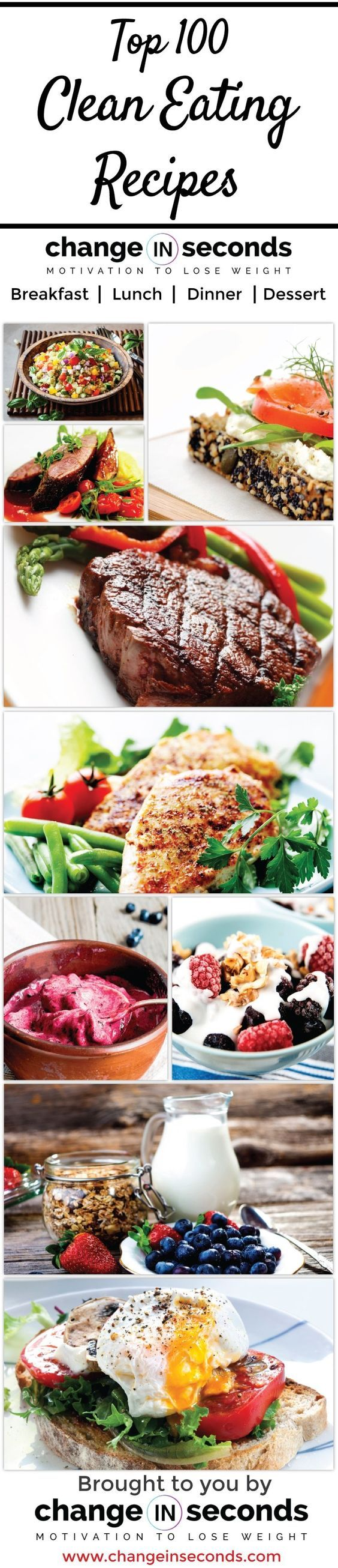 Clean Eating Recipes https://www.changeinseconds.com/top-100-clean-eating-recipes/