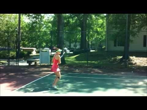 Warming up with a Silent Partner Tennis ball machine