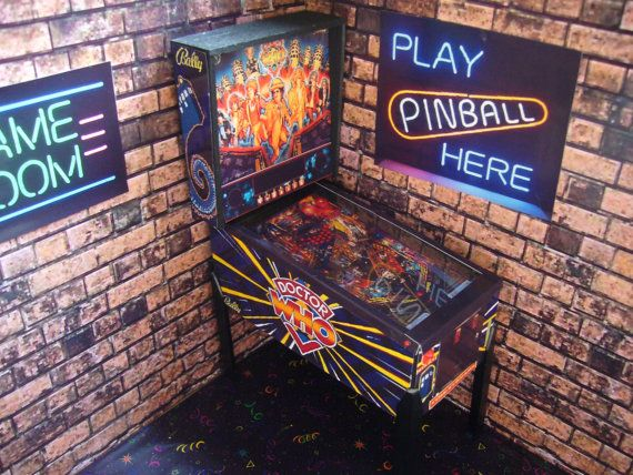 Doctor Who Miniature Pinball Table by PinballArcade on Etsy
