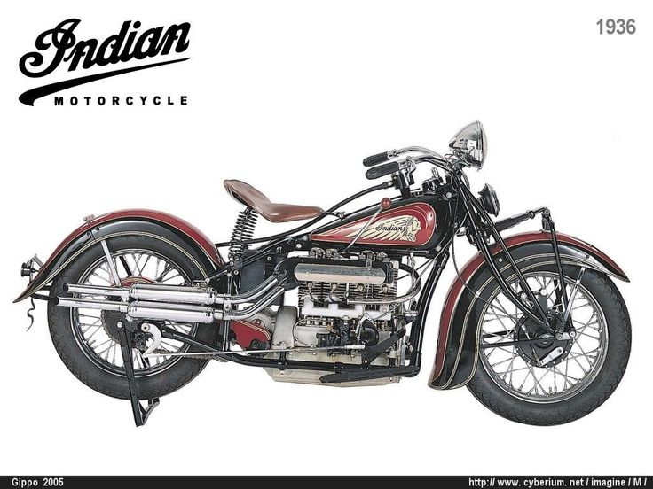 1936 Indian Upside Down Four Grease N Gasoline