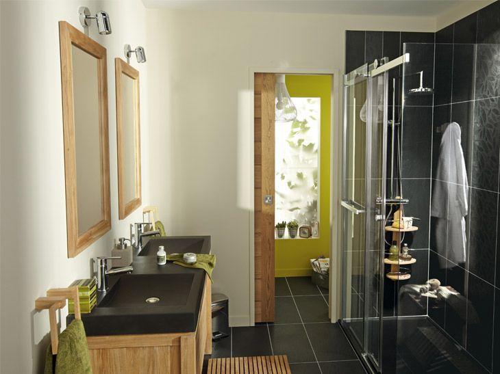 86 best Carnet du0027idées salle de bain images on Pinterest Bathroom - leroy merlin meuble salle de bain neo