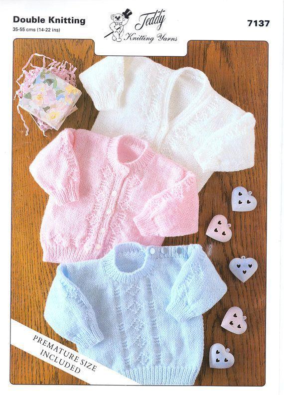 8346fe475a3c Baby Sweaters Cardigans Knitting Pattern PDF Newborn Cardigan Baby ...