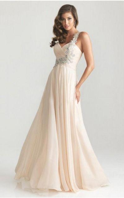 Zipper Floor-length Natural A-line Chiffon Formal Dresses afea7572