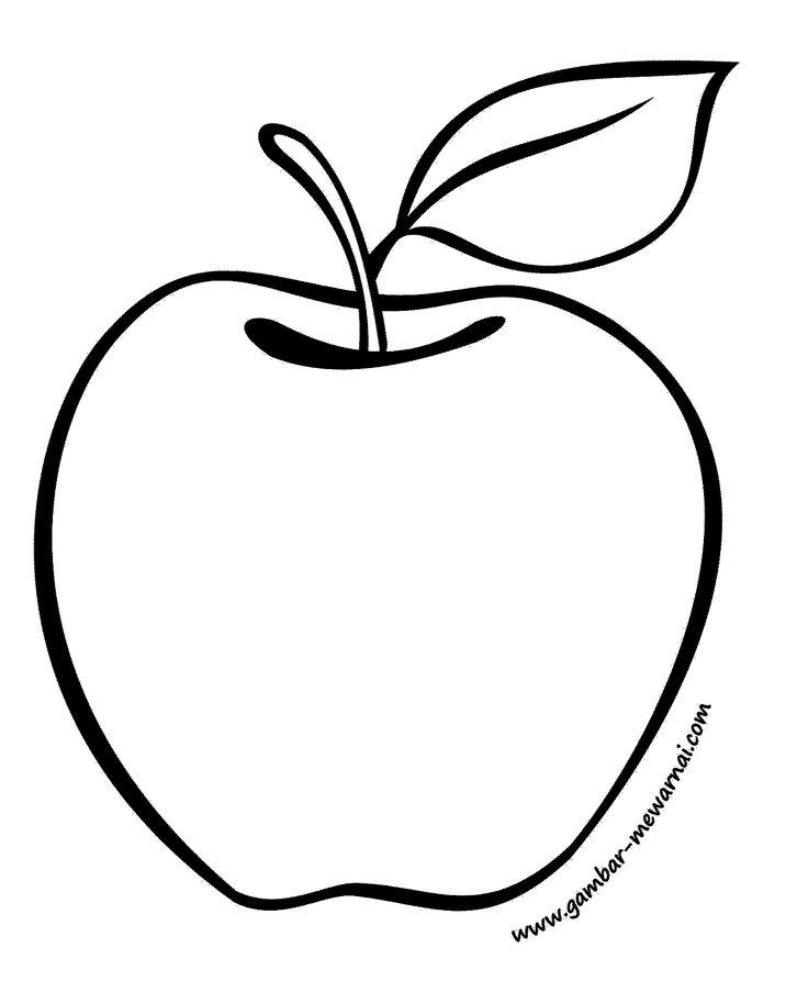 mewarnai gambar buah apel mewarnai craft
