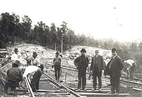 Railway line at Glenbrook, 1912 by State Records NSW, via Flickr