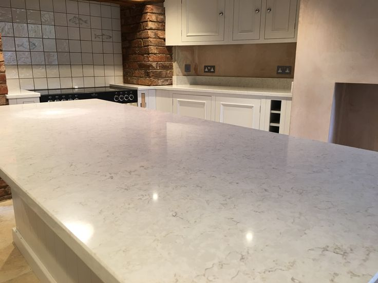Silestone Lusso worktops in Chester on a white kitchen.