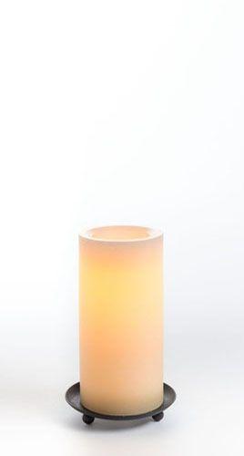"6"" Ombre Wax Pillar w/ Programmable Timer, Tan"