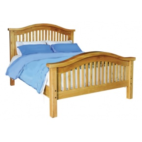 Vancouver Oak VB005 Double Curved Bed  www.easyfurn.co.uk