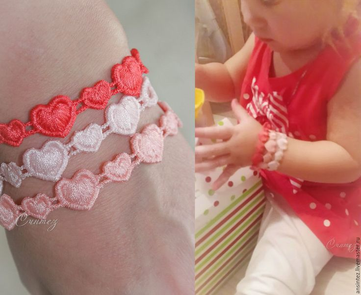 Buy Embroidered bracelets mother-daughter happy hearts set 3детских 3взрослых - bracelet embroidered