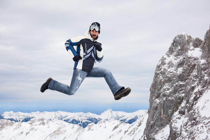 Bogner Men Bryan Denim Ski Pant, looks like real Denim. Street look on the slopes!
