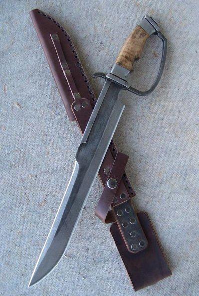 Primitive d-guard duelling bowie knife for sale