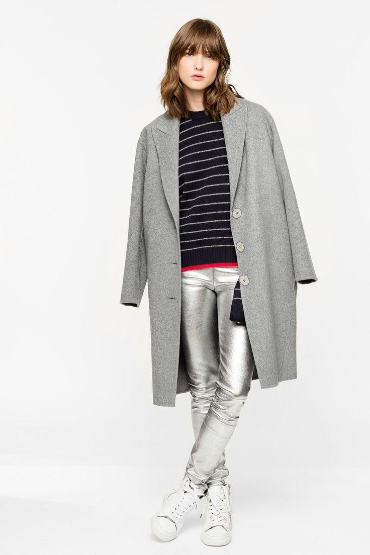 Assez Les 25 meilleures idées de la catégorie Manteau femme gris clair  PB52