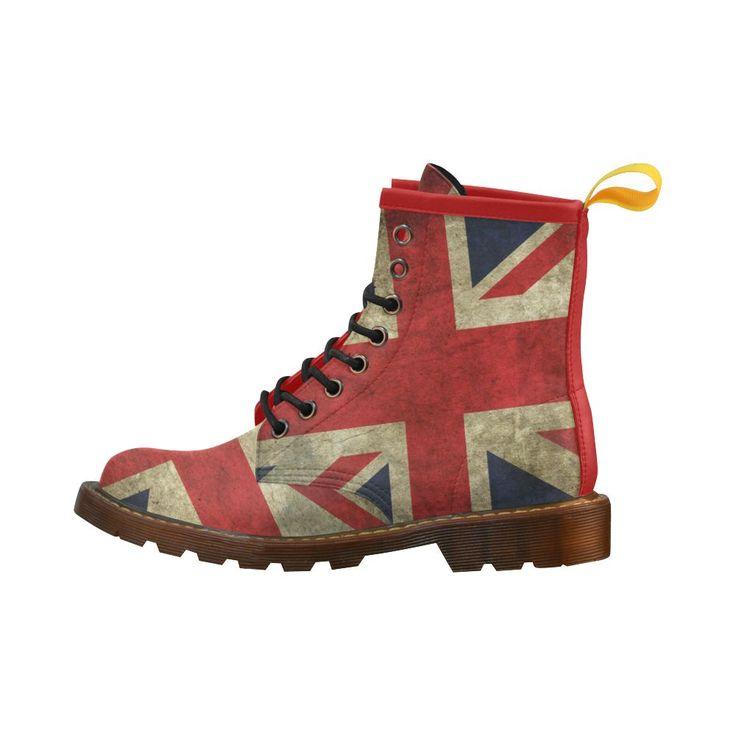 GB Flag Leather Martin Boots
