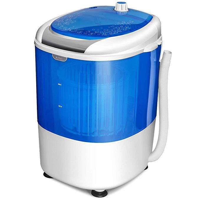 Dorm Rooms SUPER DEAL Portable Washing Machine Twin Tub 10lbs Capacity with Spin Cycle Dryer Lightweight for Apartments