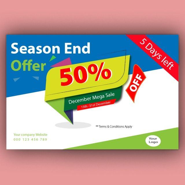 Season End Sale 2019 Real Estate Logo Design Seasons Sale Poster