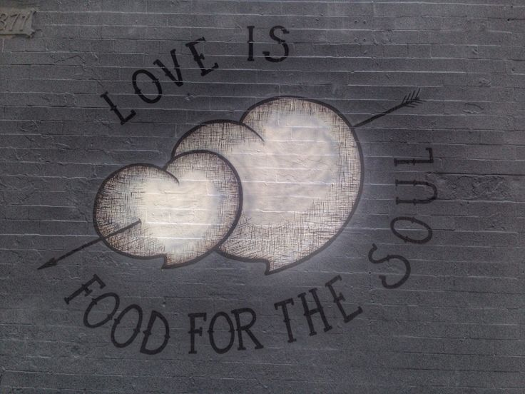 #Love is food for the soul. #NYC #littleitaly #lovetown