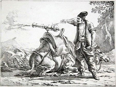 Zamburaks were swivel guns mounted atop camels to provide swift-moving artillery during the early