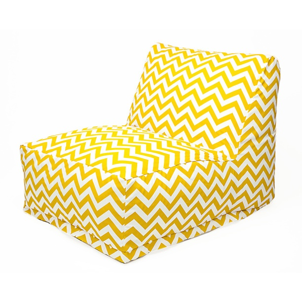 Zigzag Chevron Beanbag Yellow outdoor, yellow, outdoor furniture