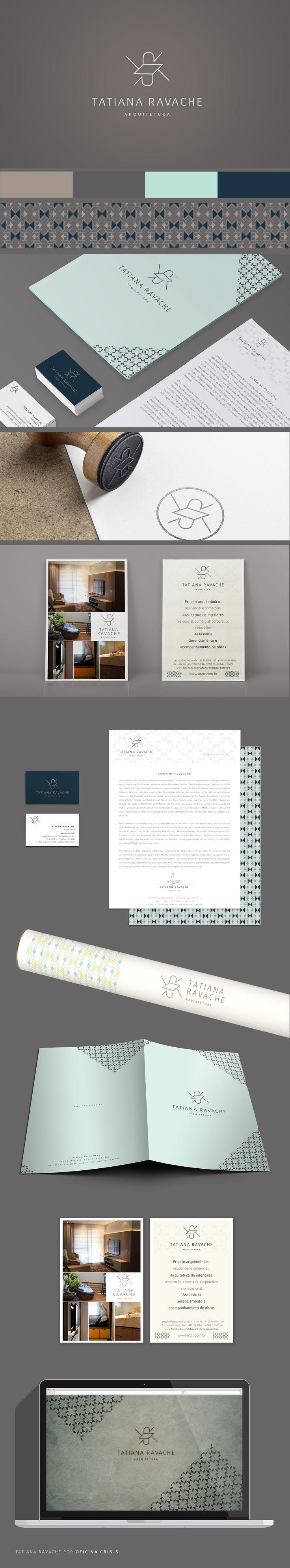 Identidade Visual do escritório Tatiana Ravache Arquitetura. Criado por Oficina Crinis   Arquitetura e Design
