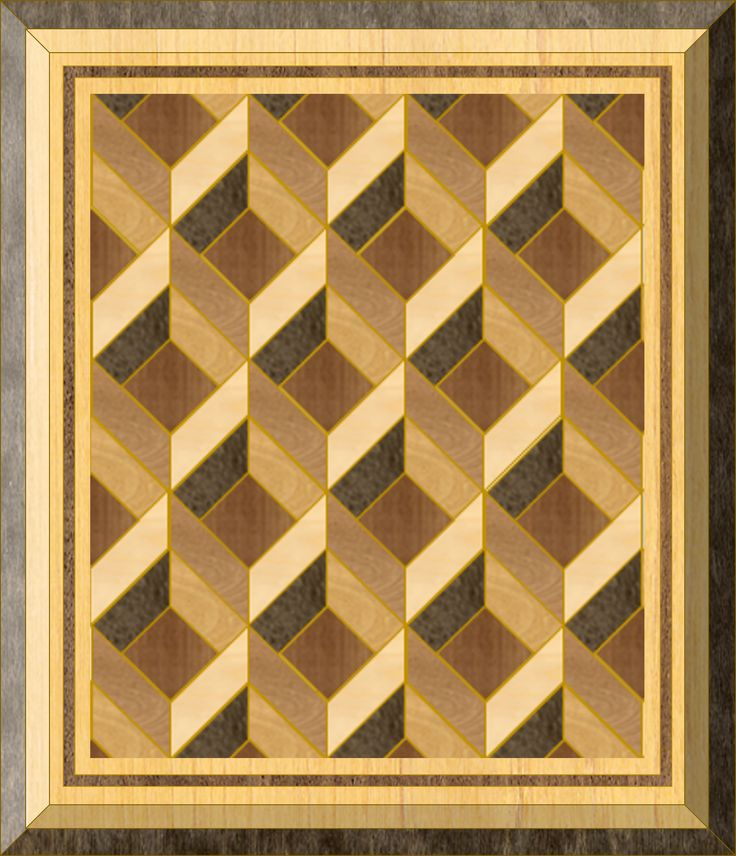 Geometric in marquetry