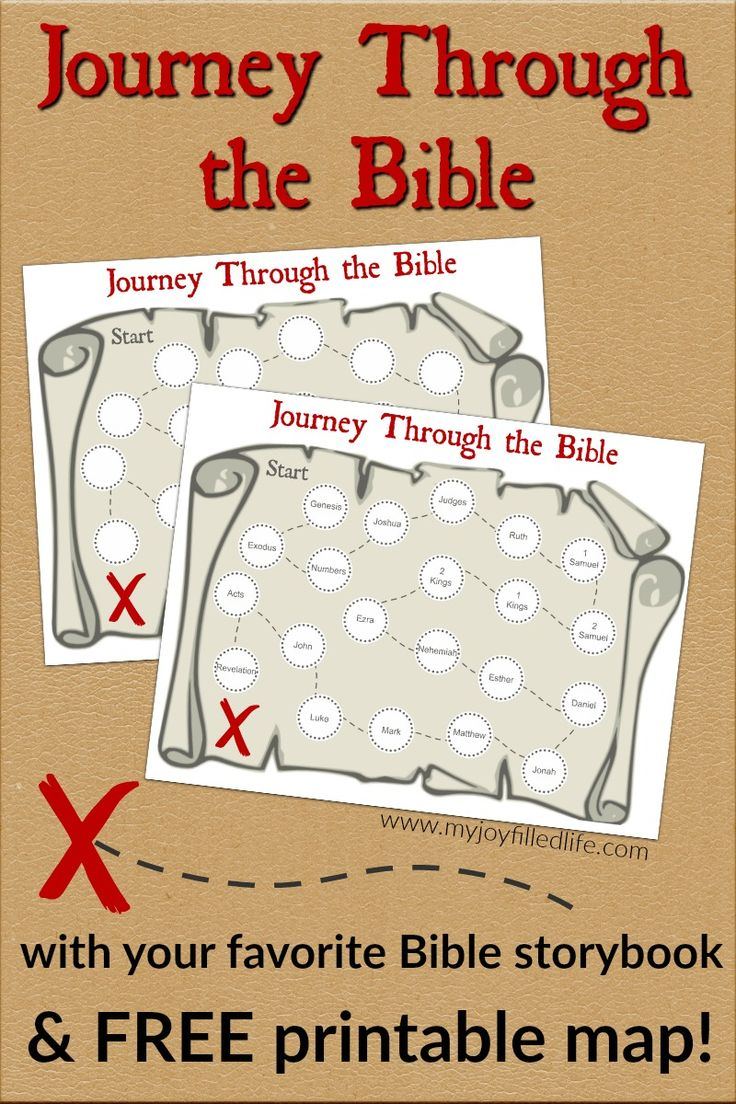 Use this FREE printable treasure map to keep track of your journey through the Bible with your kids!  Works with any Bible story book.