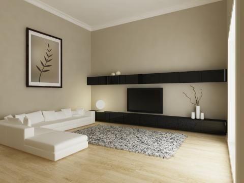Bildergebnis für wohnzimmer welche wände dunkel streichen?