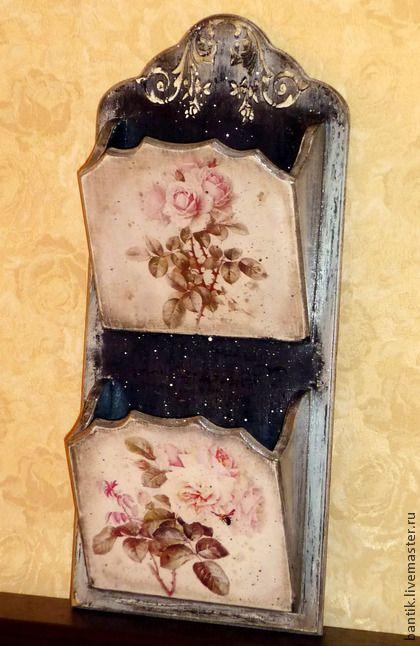 "Ванная комната ручной работы. Ярмарка Мастеров - ручная работа Газетница ""Розы"". Handmade."