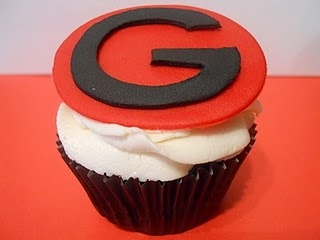 Georgia Bulldog Cupcakes!