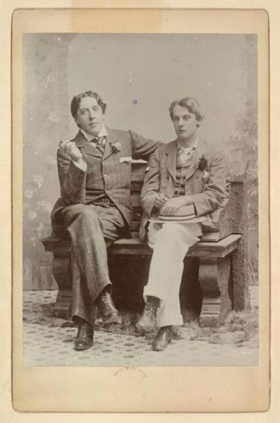 "Oscar Wilde (1854-1900) and Lord Alfred ""Bosie"" Douglas."