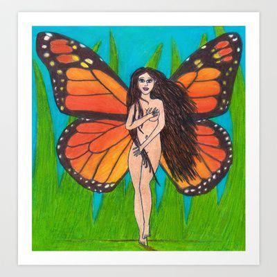 Naked Fairy Goddess Art Print by Sheridan van Aken - $22.88